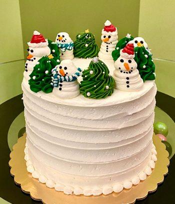 Snow Globe Layer Cake - Side
