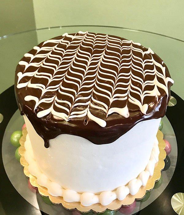 Boston Cream Pie Layer Cake - White