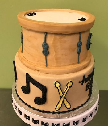 Drum Tiered Cake - Side