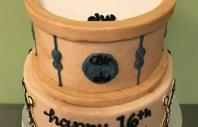 Drum Tiered Cake