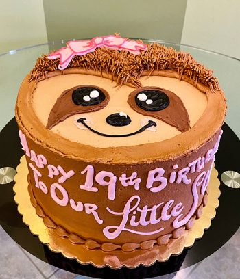 Sloth Face Layer Cake