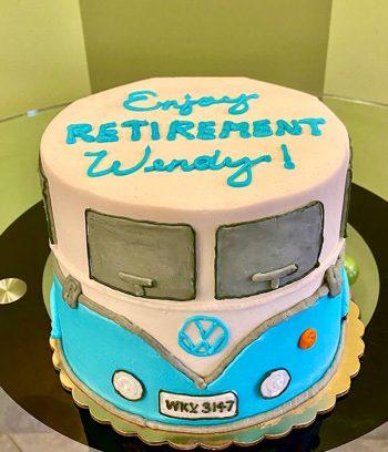 VW Camper Van Layer Cake - Top