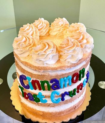 Cinnamon Toast Crunch Layer Cake - Top