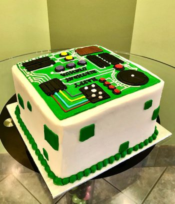 Circuit Board Layer Cake - Back