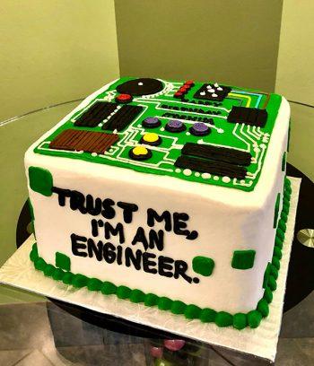 Circuit Board Layer Cake - Side