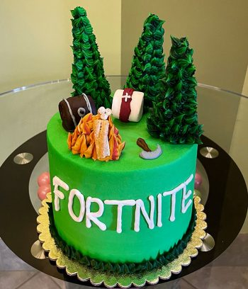 Fortnite Forest Layer Cake - Top