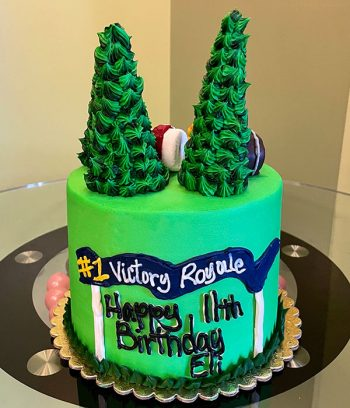 Fortnite Forest Layer Cake - Side
