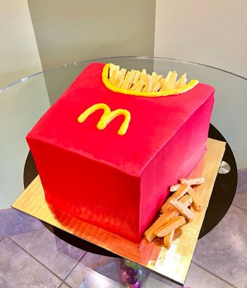 French Fry Box Layer Cake
