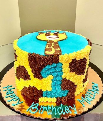 Giraffe Print Layer Cake - Side