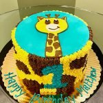 Giraffe Print Layer Cake - Top