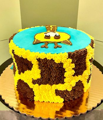 Giraffe Print Layer Cake - Back