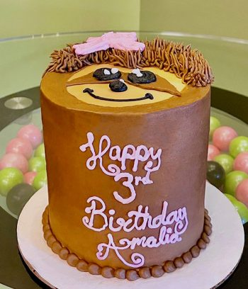 Sloth Face Layer Cake - Side