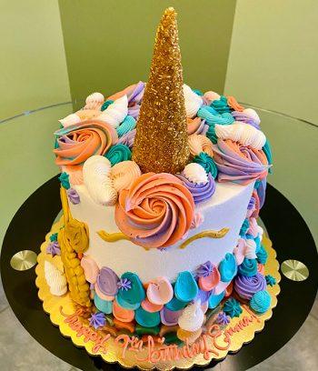Unicorn Mermaid Layer Cake - Top