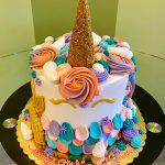 Unicorn Mermaid Layer Cake