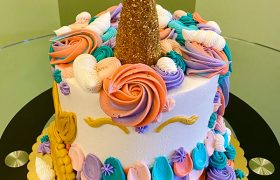 Unicorn Mermaid Layer Cake