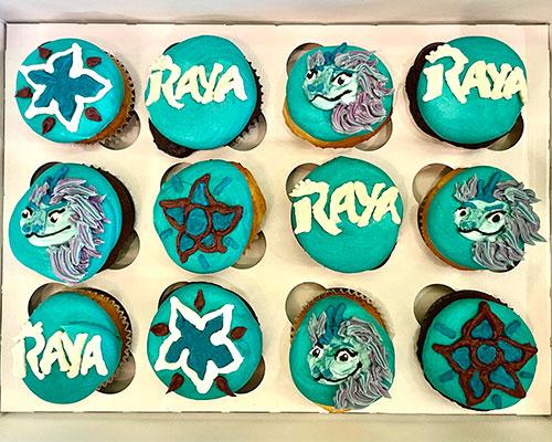 Raya and the Last Dragon Cupcakes