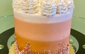 Rose Gold Ombre Layer Cake