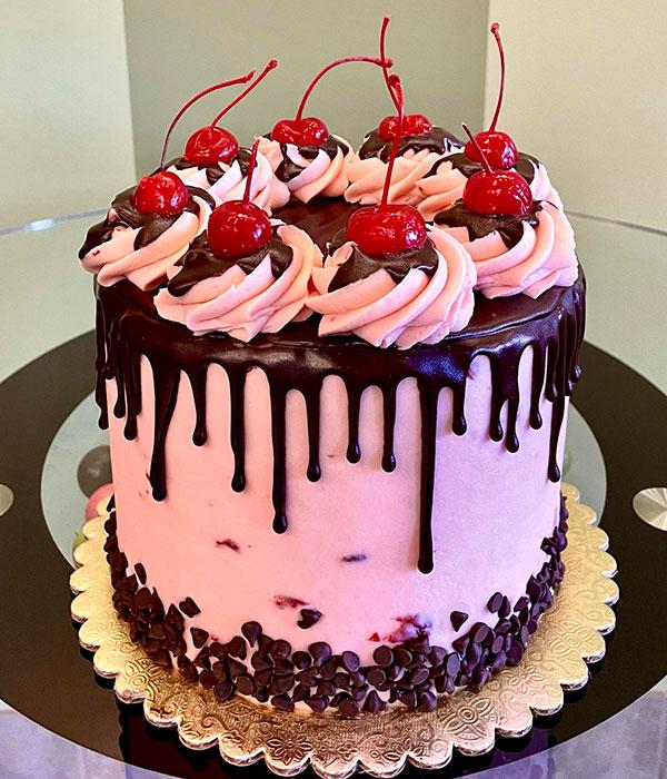 Chocolate Covered Cherry Layer Cake