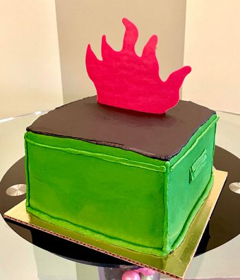 Dumpster Fire Layer Cake - Back