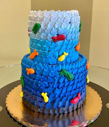 Fish Tiered Cake - Back