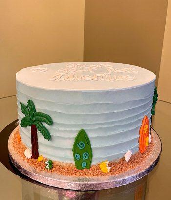 Island Oasis Layer Cake - Blue