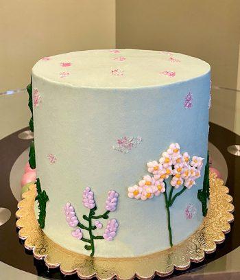 Wildflower Layer Cake - Light Green