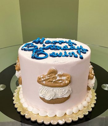Cream Puff Layer Cake - Side