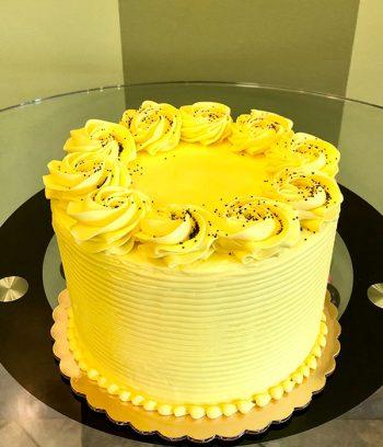 Lemon Poppyseed Layer Cake - Top