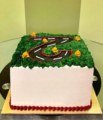 Race Track Layer Cake - Back