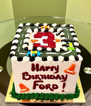 Race Car Layer Cake