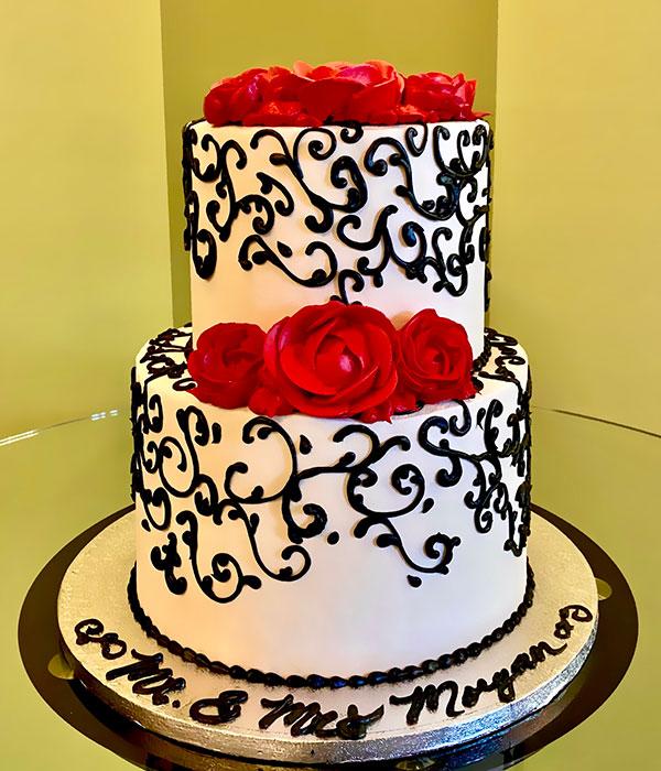 Aria Rose Tiered Cake