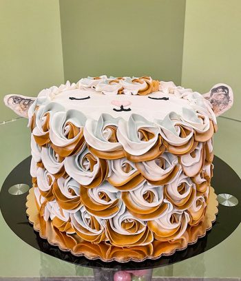 Baby Goat Layer Cake - Side