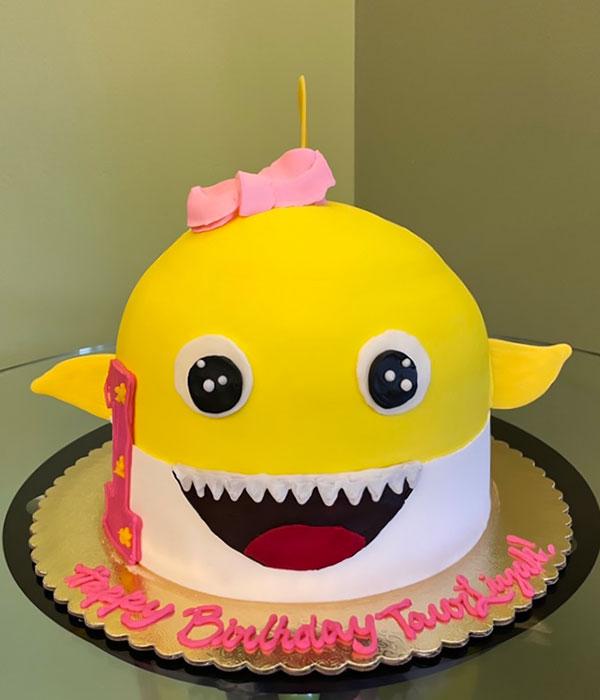 Baby Shark Shaped Cake - Front