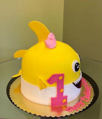 Baby Shark Shaped Cake - Side