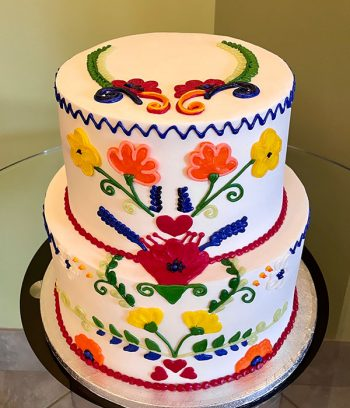 Mexican Embroidery Tiered Cake - Top