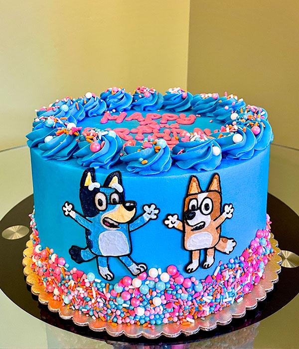 Bluey Layer Cake - Blue