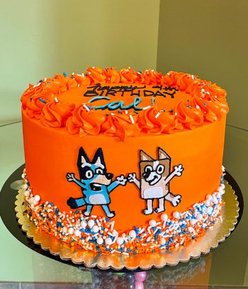 Bluey Layer Cake - Orange