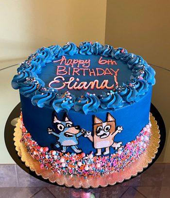 Bluey Layer Cake - Dark Blue