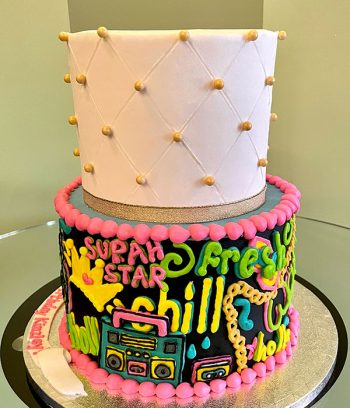 Fresh Princess Tiered Cake - Side