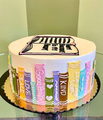 Library Books Layer Cake - Side