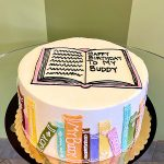 Library Books Layer Cake - Top