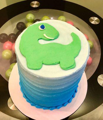 Baby Dinosaur Layer Cake - Top